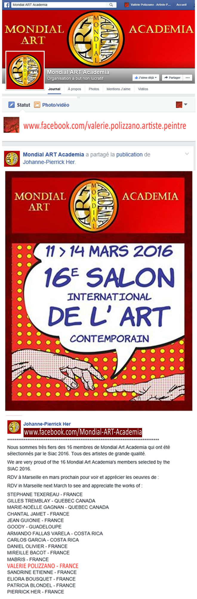 Exposants au Salon International d'Art Contemporain - S.I.A.C (...)